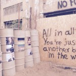 Buffer zone-wall message